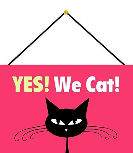 NWFS Yes! We Cat! Comic - Placa metálica (20 x 30 cm, con cordón)