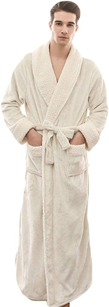 Oncefirst Unisex Plush Soft Fleece Bathrobes Night Robes