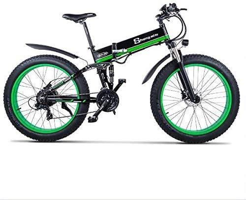 Bicicletta uomo mountain bike E-bike Pieghevole Da 26 Pollici Per Ciclismo Su Strada Da Uomo Adulto   Con Batteria Al Litio Rimovibile Da 48 V 12,8 Ah, Bici Ibride Con Freno A Disco A 21 Velocità bici