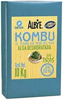 Kombu Seaweed Dehydrated in Strips (Sack with 22 Pounds...Grows to 331 Pounds). The Treasure that comes from the Sea!. Shipping Included to USA.