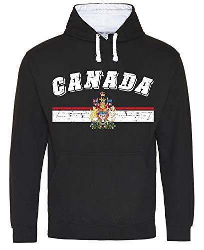 Aprom-Sports Kanada Hoody Trikot WM EM Fussball Sport Hoodie Kapuzenpullover D03 SCWe (M)