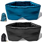 Sleep Mask for Women and Men Eye Mask for Sleeping Silk Sleep Mask Soft and Breathable Satin Fabric Updated Design Light Blocking No Pressure Night Companion