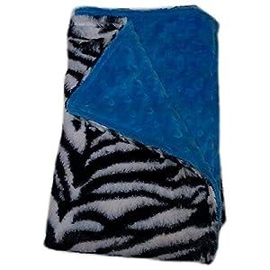 Baby Doll Bedding Zebra Mini Blankets, Aqua