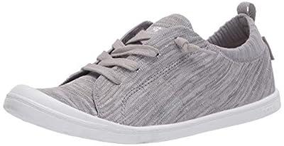 Roxy Women's Bayshore Knit Sneaker Shoe, Grey Heather 20, 9.5 M US
