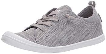 Roxy Women s Bayshore Knit Sneaker Shoe Grey Heather 20 5.5 M US