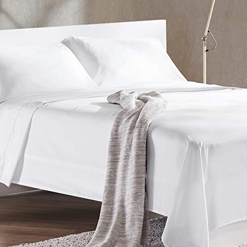 Sleep Zone Bettwäsche-Set, temperaturregulierend, weich, knitterfrei, farbbeständig, leicht zu waschen, 4 Stück Twin XL weiß
