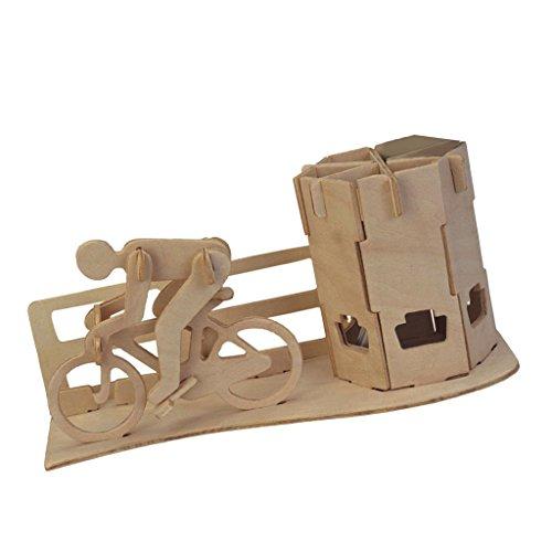 sharprepublic DIY 3D Holz Puzzle Rennrad Federbehälter - Rennrad Federbehälter