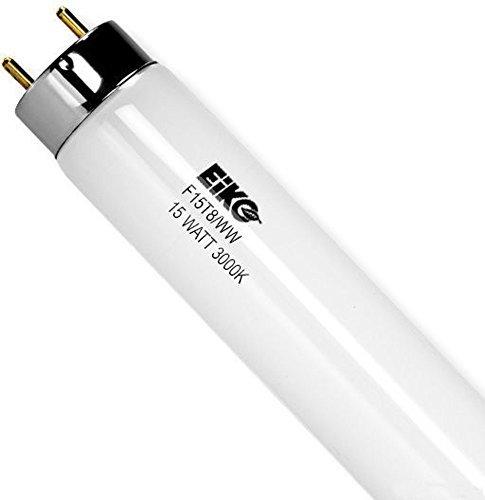 EiKO 15523 Model F15T8/WW Linear Fluorescent Tube, 15 Watts, Medium...