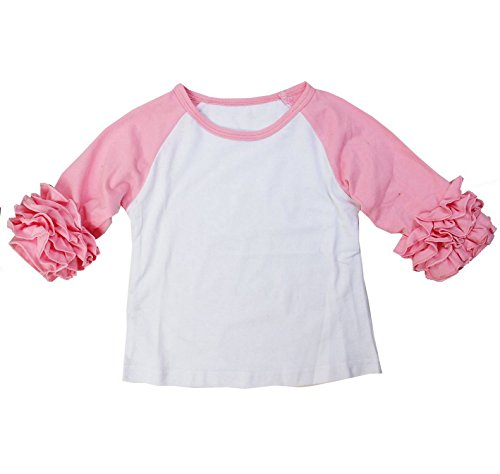 Kirei Sui Girls Long Sleeve Icing T-Shirts 6 Light Pink