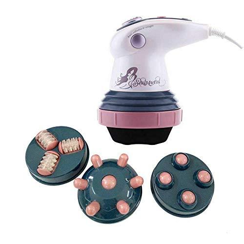 Elektrische Massagegeräte Cellulite,Anti Cellulite Gerät mit 4 Stück Massage Kopf,für Reduzieren Sie Fett in Taille, Bauch, Schultern, Gesäß und Beinen