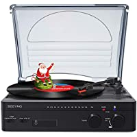 Seeying Record Player Turntable with Speakers Bluetooth with FM Stereo Radio