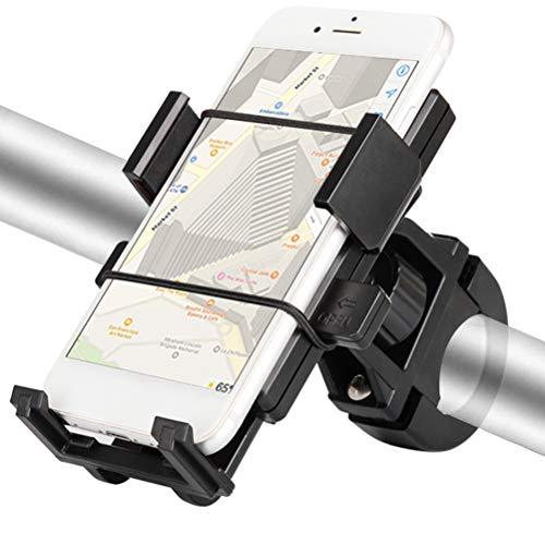 Universele fiets-telefoonhouder MTB motorfiets voor 4-6,5 inch mobiele telefoon fietshouder 60-90mm zwart