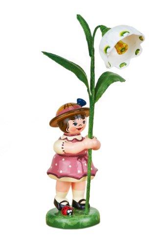 Hubrig Neuheit 2014 - Blumenkind Blumenmädchen mit Märzenbecher - 11cm Erzgebirge