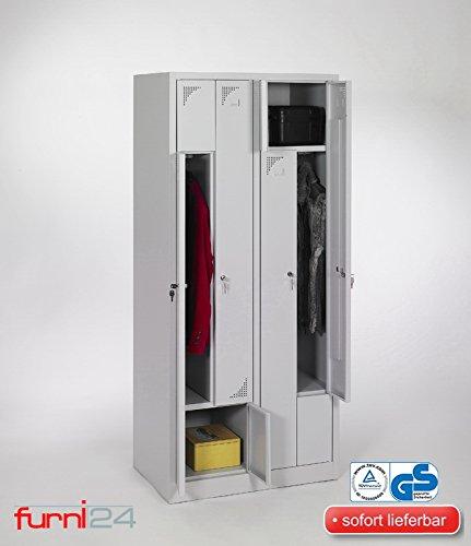 Z Garderobenschrank Personalschrank Spind Umkleideschrank Kleiderschrank 180 cm x 80 cm x 50 cm **fertig montiert** Verschiedene Ausführungen