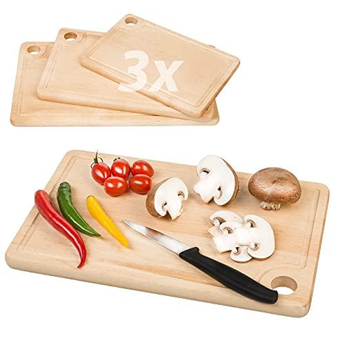 Smart Planet 3 tablas de cortar de madera – tablas de madera – tabla de desayuno – tabla de cortar – tabla de cortar – tabla de servir – tabla de carne – tabla de aperitivos