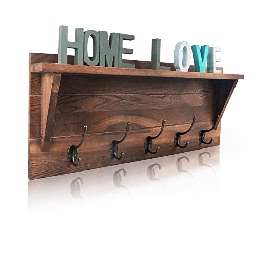 "Rustic Wall Mounted 24"" Coat Rack $25.00 (50% OFF)"