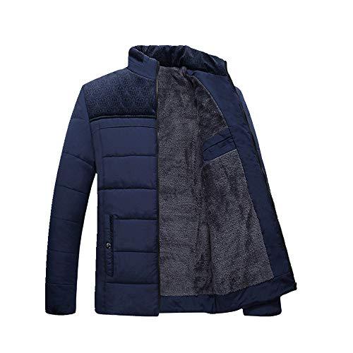Chaqueta acolchada de algodón casual para hombre engrosada abrigo abrigo abrigo collar