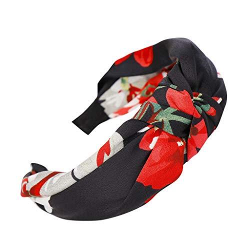 QUINTRA Stirnband Frauen Blumen Muster Bogen Knoten Haarband Einfache süße Mädchen Haar Stirnband Hoop