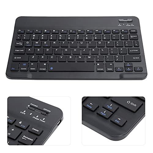 Teclado de computadora, Teclado Bluetooth Teclado ergonómico con Negro/Blanco (Opcional) para iOS/Android/Windows(Black)