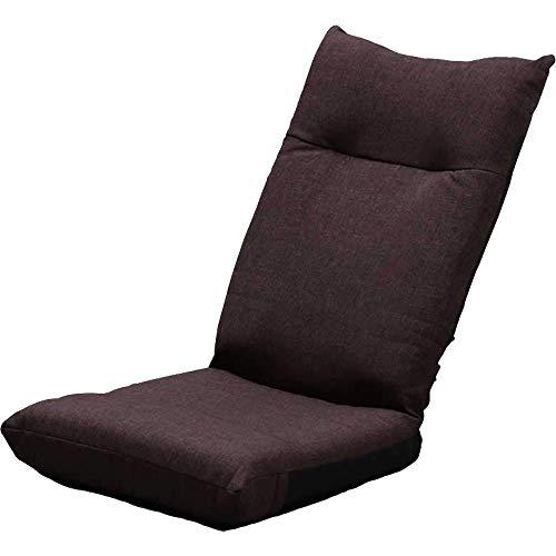 アイリスプラザ 座椅子 ブラウン 幅約46×奥行約58×高さ約68cm リクライニング YC-601