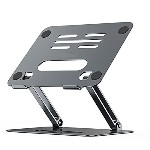 PPCAK Aleación de Aluminio Ajustable Soporte portátil Plegable portátil para Cuaderno Macbook Soporte de computadora Soporte de elevación Soporte de enfriamiento Antideslizante (Color : P43 Gray)