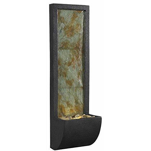 Fountain Waterfall Indoor Water Wall Slate Table Illuminated Bronze Light