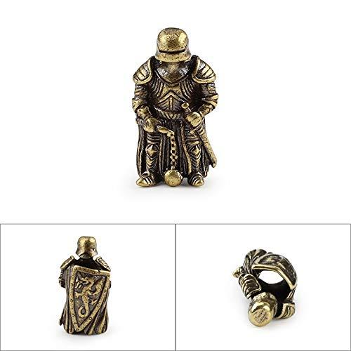 CHCO Bricolage Couteau Perles Pendentif Vintage Couleur en Laiton en Plein Air Outils Armure Knight Paracord Perles B Style Jaune