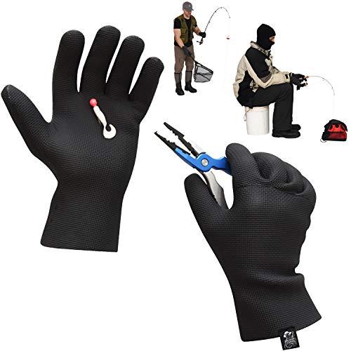 Mens Neoprene Gloves Waterproof Fishing Gloves – Ice...