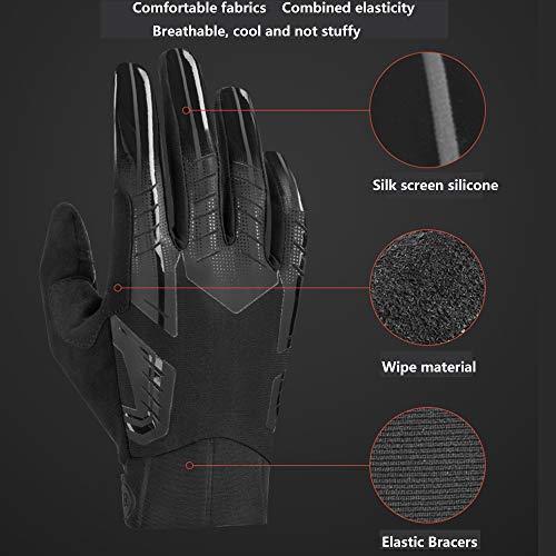 Axdwfd Fietshandschoenen, voor mountainbike, volledige vinger-handschoenen, lente, herfstfietsen, straatmotorrijder
