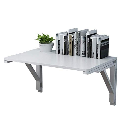 Laptop DesWall-mounte Mesa Plegable de Madera Maciza Doble BrackeWall Tabl Escritorio montado en la Pared Blanco (tamaño: 60x40cm) ++ (Tamaño: 100x50cm)