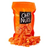 Oh! Nuts Dried Papaya Chunks   2lb Bulk Bag of Diced Dry Pawpaw Tree Papaya Bites for Snacking & Baking   Light Sugar Coating, Low Sodium, Dairy Free, Low Cholesterol Low Fat & High Fiber Fruits