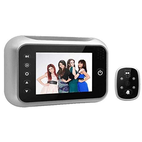 3,5 inch groothoek-camera video, intelligente bewaking deurbel, elektronische piephole-camera met hoge resolutie Guckloch zilver