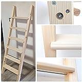 generico scala in legno massello in varie altezze e larghezze per soppalco,letto a castello,cameretta,soffitta (250, 50)