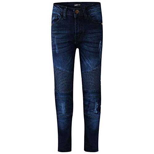 A2Z 4 Kids® Kinder Jungen Dehnbar Jeans Dunkel Blau Designer - Boys Jeans J501 Dark Blue_9-10