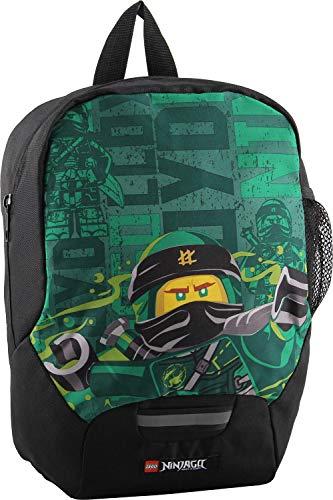 LEGO Bags Kindergarten Rucksack NINJAGO Energy, Leichter Kinderrucksack, Vorschulrucksack mit LEGO Motiv, Kita Rucksack grün, mit großem Hauptfach, Mesh Seitentasche, Brustgurt und Namensschild