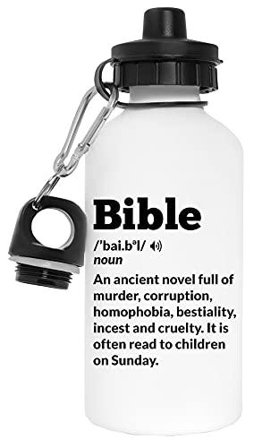 Novel Bible Botella de Agua Blanco Aluminio Reutilizable Water Bottle White Aluminium Reusable