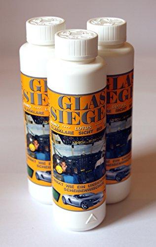 Glas-Siegel je 250ml (3 Flaschen) Scheibenversiegelung Glassiegel Lotus Effekt 299