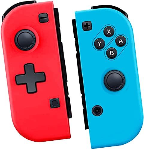 TUTUO Controller für Switch, Kabelloser rot blau Replacement Controller, Bluetooth Gamepad Joypad Joystick Kompatibel für Switch