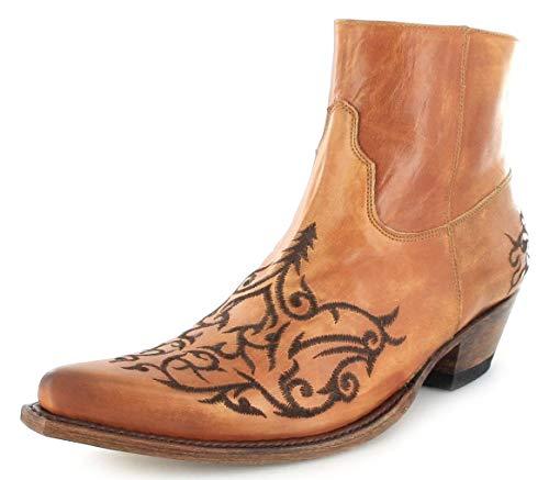 Sendra Boots Unisex Cowboy Stiefel 7216 Siena Lederstiefelette Westernstiefelette Braun 42 EU