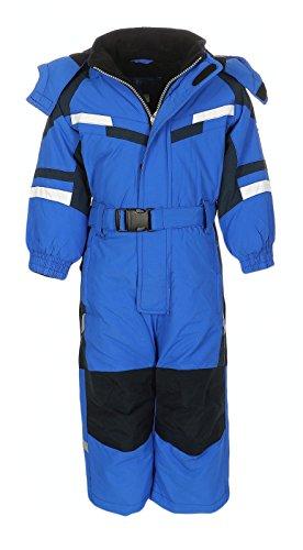 PM Kinder Outdoor Skianzug Snowboard für Jungen Mädchen Funktionsanzug Hardshell Schneeanzug Winter LB1221, blau, Gr. 122