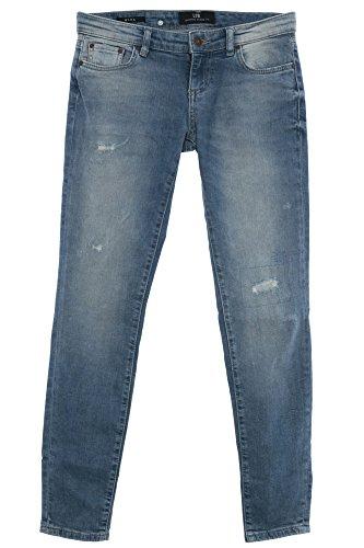 LTB Mina Jeans Jeggings Hose Pants Damen Stretch Slim Fit Röhrenjeans Used Look, Farbe:Jeansblau;Hosengrößen:W31