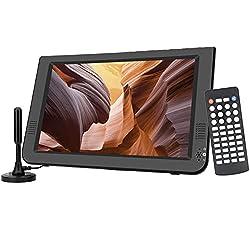 commercial GJY 10.1 inch Portable TV Set Digital Multimedia ATSC + NTSC for Digital TV – USB Memory Card Reader… portable television digital