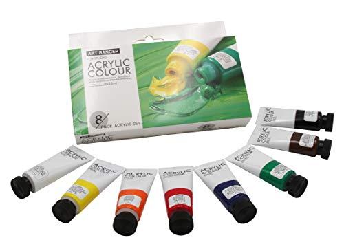 Acryl Farbset in Grundfarben 8 Tuben je 22ml, zum Malen auf Leinwand
