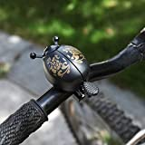 DealMux Bicicleta Universal Portátil Linda Mariquita De Dibujos Animados Con Luz De Calentamiento Ciclismo Linda Bocina De Bicicleta Alarma De Advertencia Anillo De Campana Accesorio Campana De Manil