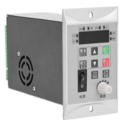 Fockety Convertidor de frecuencia, con Control de Motor de Caja de Aluminio, protección múltiple de Ahorro de energía Universal para mezcladores, Ventiladores Molinos de Bolas