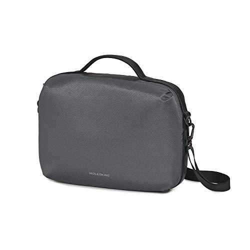 Moleskine Zaino Tracolla Porta PC, Notebook Bag, Device Bag Horizontal, Borsa PC 13  Pollici e Tablet, Materiale Impermeabile Resistente all Acqua, Colore Grigio