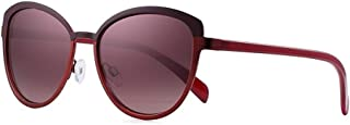 SGJFZD Outdoor PC Sunglasses Female Models Round Frame Sunglasses Eye Protective UV Protection Sunglasses (Color : Red)