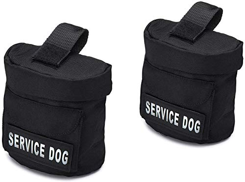 Service Dog Vest Harness Saddle Bags with Service Dog Patches - SD Backpack with Patch - Quality Back Pack Pouch with Pockets - Saddlebag for Service Dogs Vests (Service Dog)