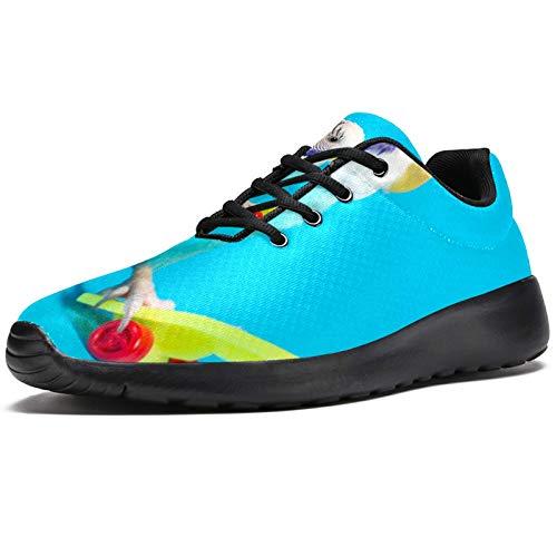 Zapatillas deportivas para correr para mujer, color azul, con diseño de loro, de malla, transpirable, para caminar, senderismo, tenis, color, talla 38 EU