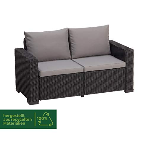 Allibert Lounge Sofa Rattan, Lounge California Sofa, Grau, 2-Sitzer - 2